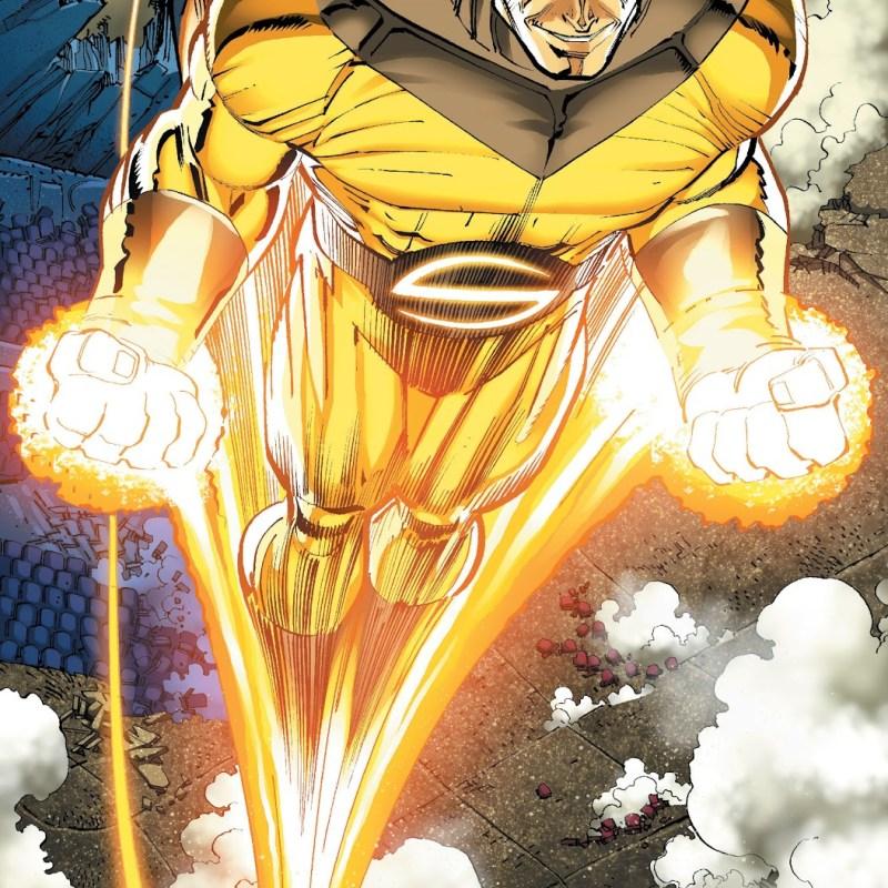 In 'World War Hulk' (2005) #5, Sentry unleashes his power against World Breaker Hulk.