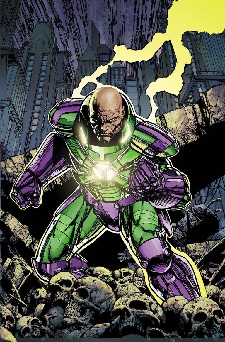 Lex Luthor in his Warsuit.