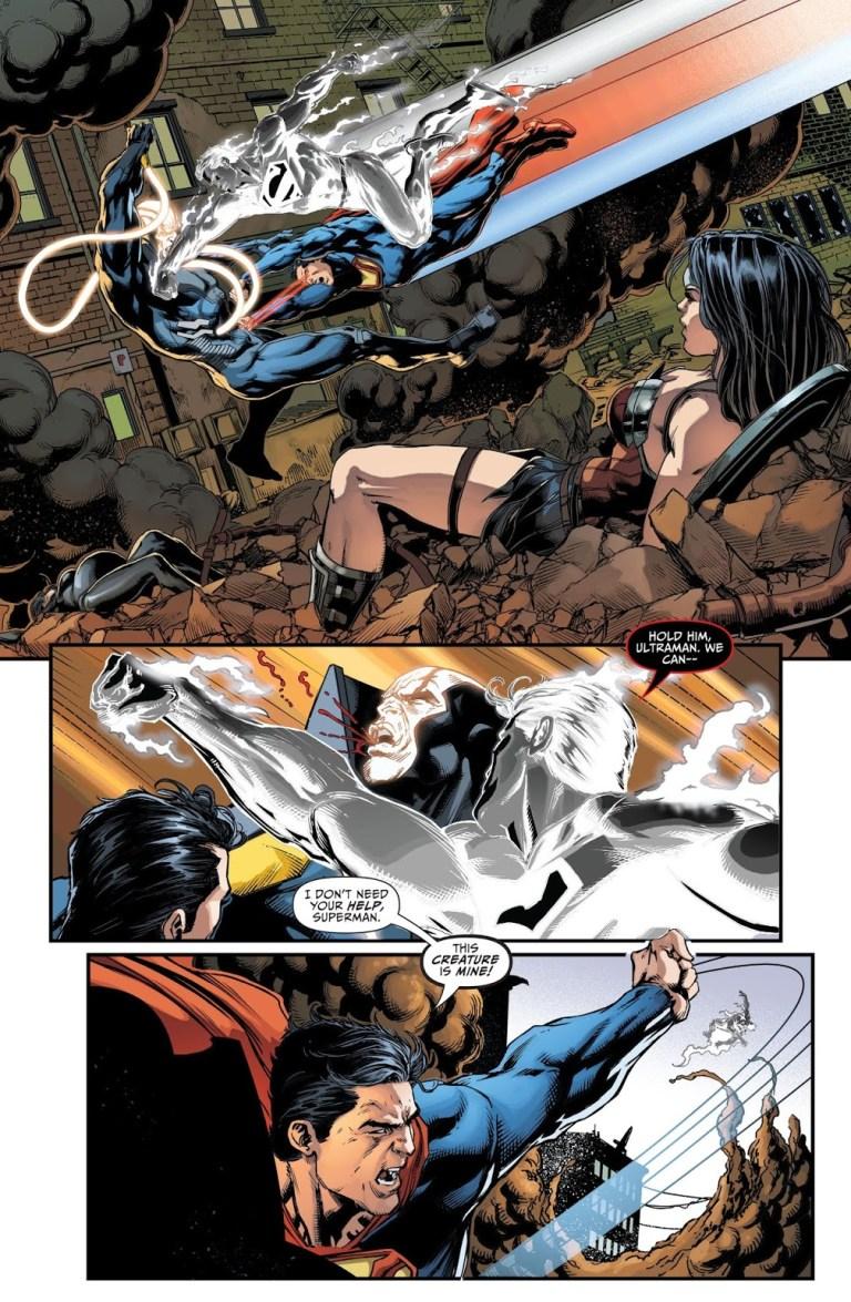 "In ""Justice League: Darkseid War"", Superman and Ultraman tackle Anti-Monitor."