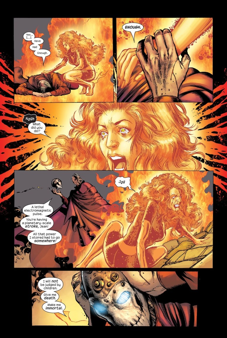 In 'New X-Men' (2004) #150, Magneto kills Phoenix with a planetary electromagnetic pulse.
