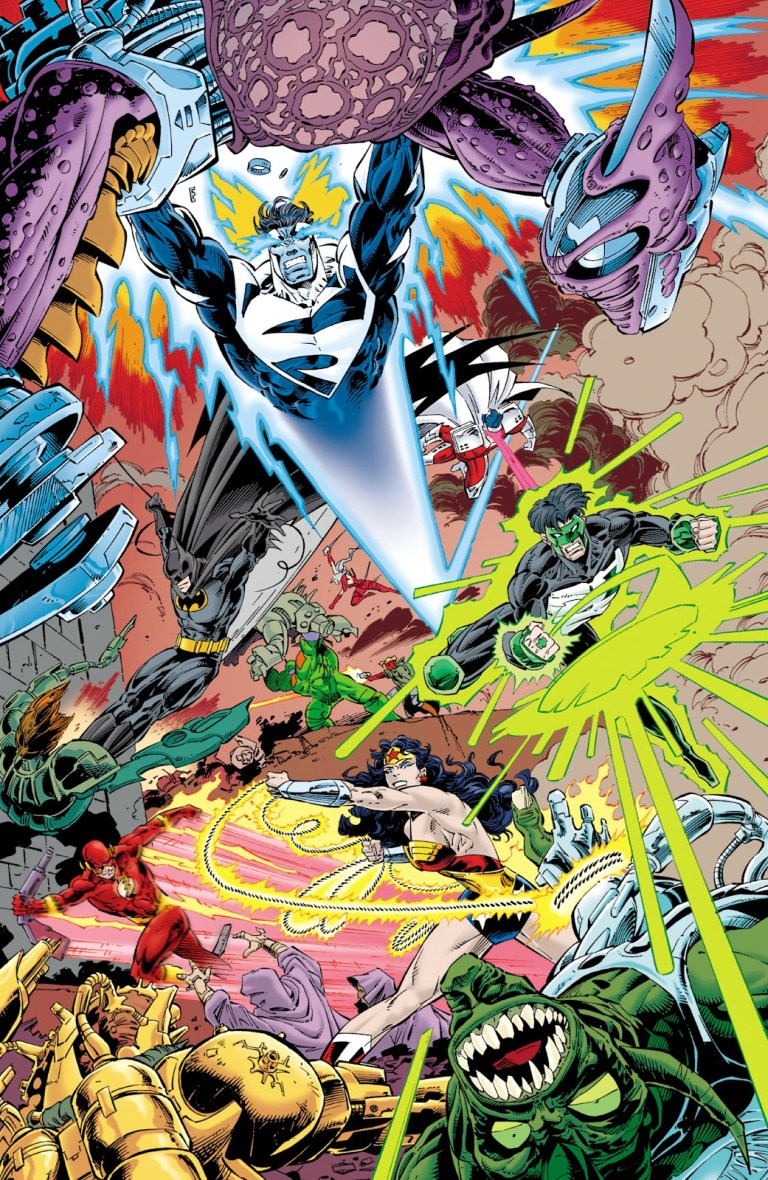 In 'JLA/WildC.A.T.s.' (1997), the JLA and WildC.A.T.s. take on the Seven Deadly Sins in the Wildstorm Universe.