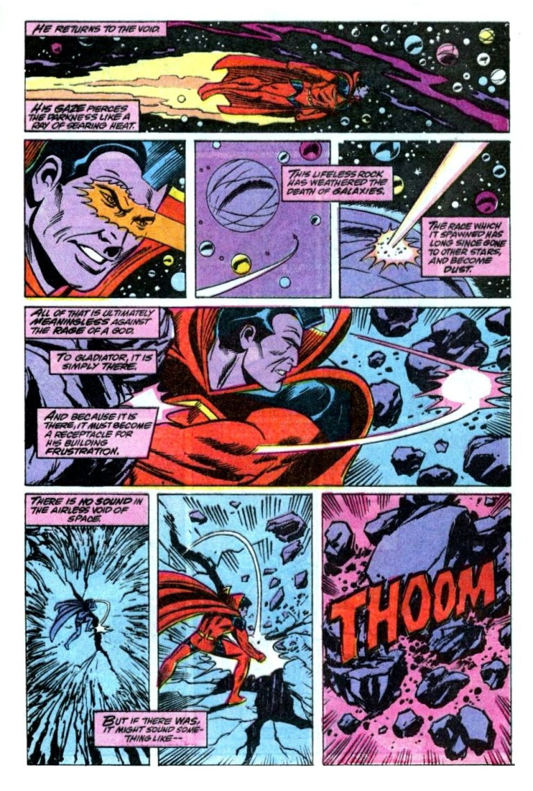 In 'Marvel Comics Presents' (1990) #49, Gladiator destroys a planet in a few blows.