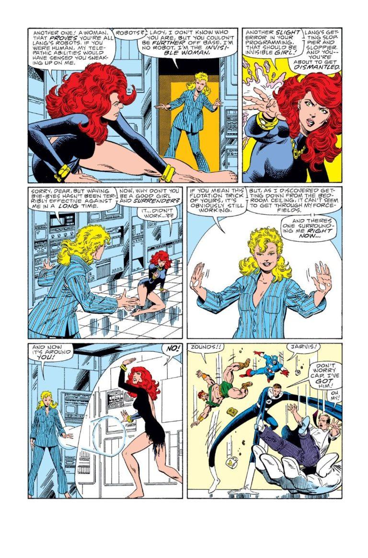 In 'Fantastic Four' (1986) #286, Sue Storm blocks Jean Grey's telekinesis with force fields.