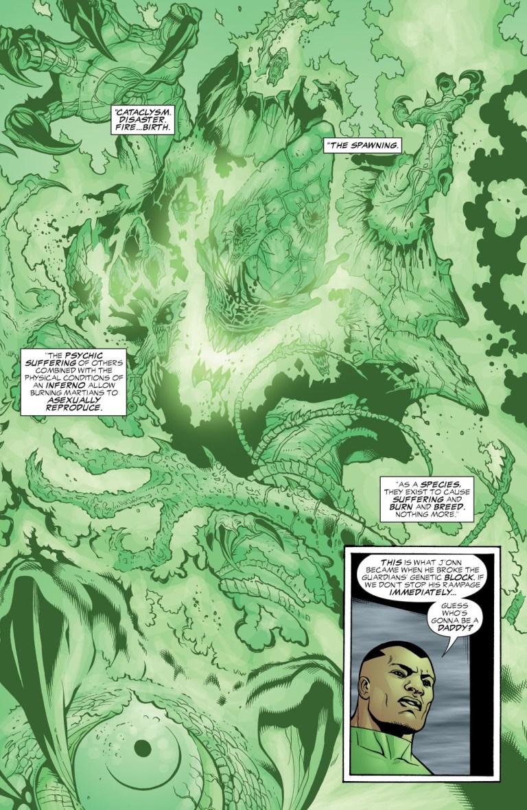 In 'JLA' (2003) #87, Green Lantern tells the origin story of the Burning Martians.