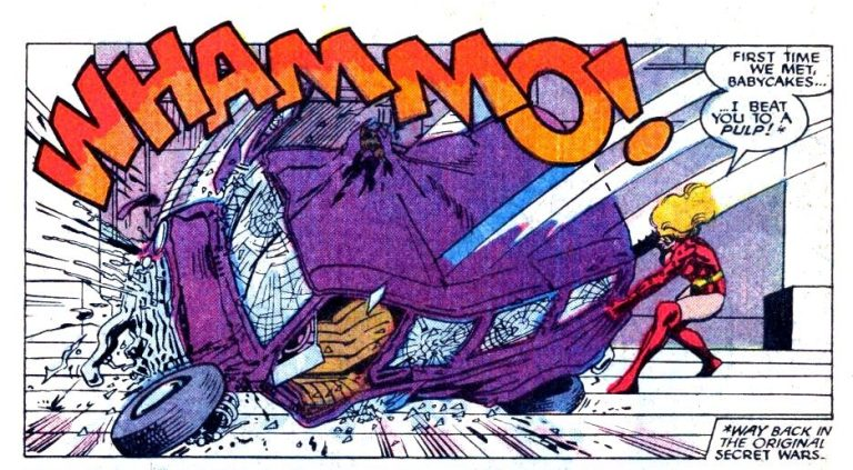 """In 'Solo Avengers' (1989) #14, She-Hulk tangles with Titania, calling her """"cuddles."""""""