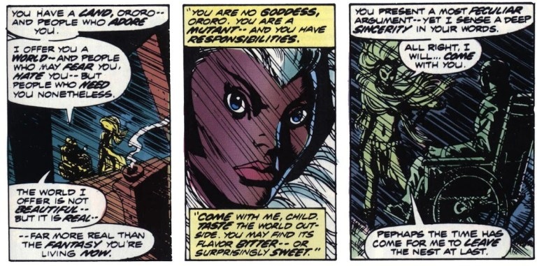 In 'Giant Size X-Men' (1975) #1, Professor X reveals to Ororo that she is a mutant.