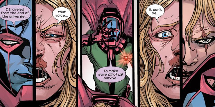In 'Ultimate Comics Ultimates' (2013) #29, Kang the Conqueror reveals her identity as Sue Storm from the future.