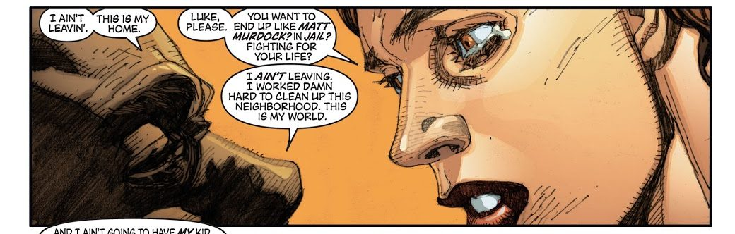 In 'New Avengers' (2006) #22, Luke Cage refuses to escape with his family to Canada.