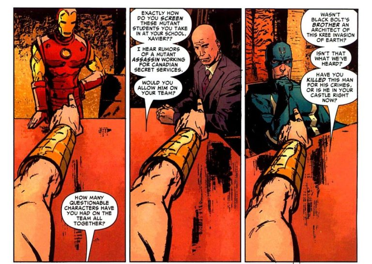 In 'New Avengers: Illuminati' (2006) #1, King Namor questions each faction's morality.