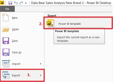 export power bi template