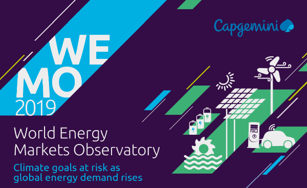 Capgemini a publié son 21ème rapport WEMO sur  les marchés de l'électricité et du gaz