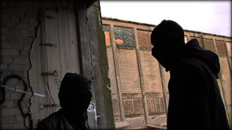 Anonymous militant men