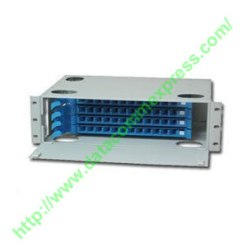 48-port rack mountable fiber optic patch panel with 48 SC Adapter
