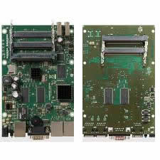 RouterBOARD RB435G Atheros AR7161 680MHz CPU, 256MB RAM, three gigabit LAN, five MiniPCI, 128MB NAND
