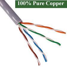 100% Pure Copper Bulk Cat5e UTP Cable (305m)