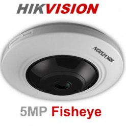 Hikvision DS-2CC52H1T-FITS 5MP  Turbo HD Fisheye Camera with Audio
