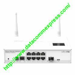 Mikrotik 8x Gigabit Smart Switch, 1x SFP cage, LCD, 1000mW  Dual Chain wireless, (CRS109-8G-1S-2Hn