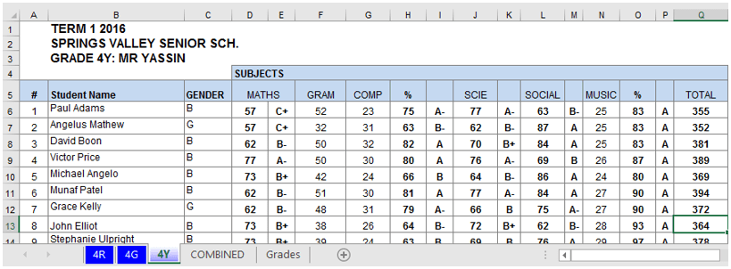 Using Excel Macros to Combine Multiple sheets