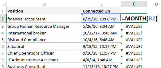 convert dates formatted as text in Excel