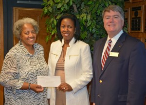 From left, VGCC Board of Trustees chair Deborah Brown, President Dr. Stelfanie Williams, and Endowment Director Eddie Ferguson were on hand for the presentation of contributions establishing the new scholarship fund. (VGCC photo)