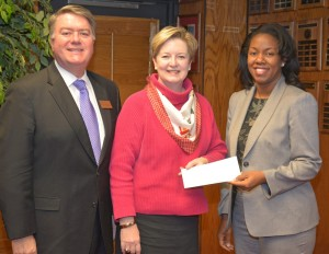 From left, VGCC Endowment Director Eddie Ferguson, Triangle North Healthcare Foundation executive director Val Short, and VGCC President Dr. Stelfanie Williams celebrate the creation of the new scholarship. (VGCC photo)