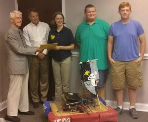 From Left to Right, Dr. Marian Lark, Frank Frazier, Erin William,s Brandon Lawrence, Hunter DeMent