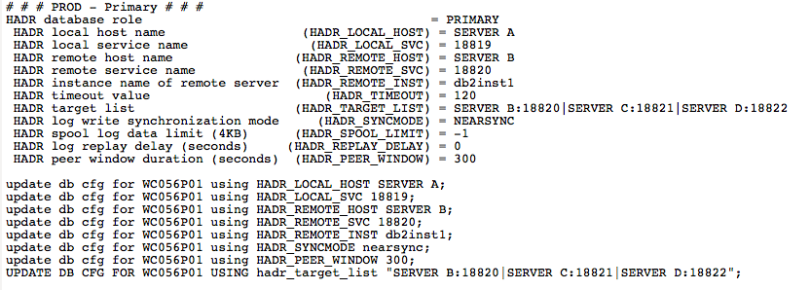 Example of a personal checklist used to keep server configuration orderly.