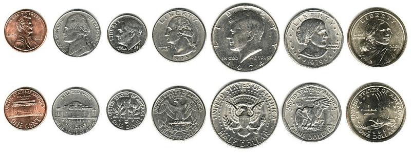 Resultado de imagen de dollar coin types