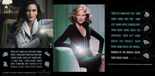 DeBeers Right Hand Ring Ads