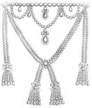 Sketch of Diamond Necklace