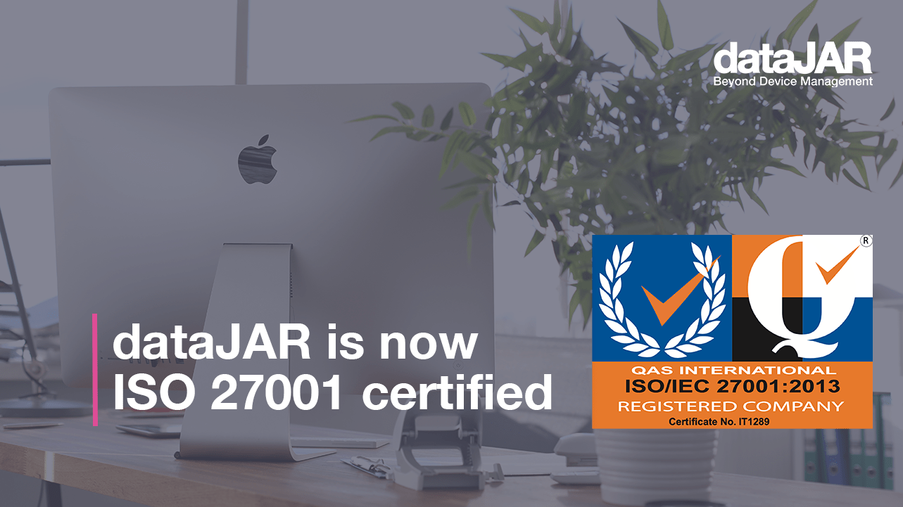 """Featured image for """"dataJAR is now ISO 27001 certified"""""""