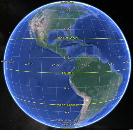 Global Earth with Latitude and Longitude.