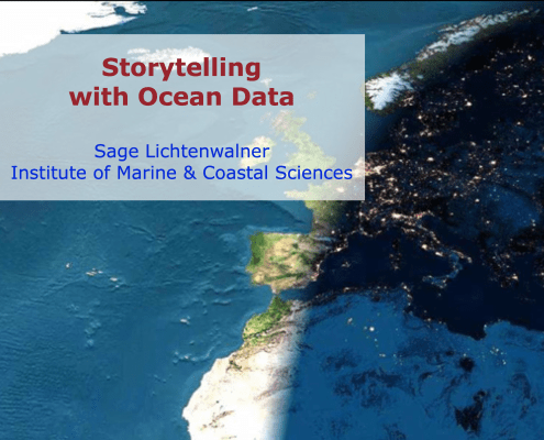 Storytelling with ocean data title slide