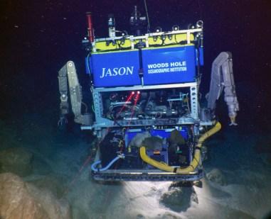 ROV Jason underwater on mission.