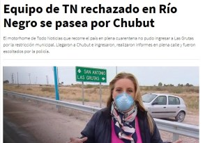 TN rechazado en Chubut