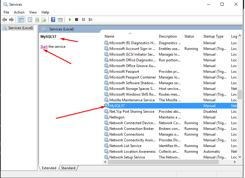 How to Manually Start Stop and Restart MySql Server on