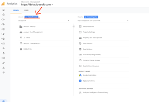 how to set up google analytic property