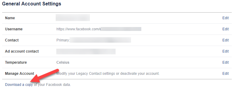 Download a Copy of the Facebook Data