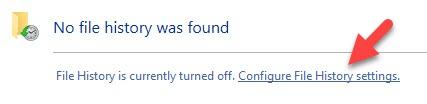 No File History Found