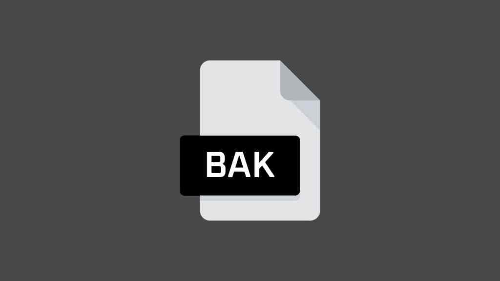 Recover BAK Files