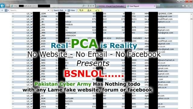 Pakistan Cyber Army Hacks into BSNL Website