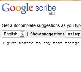 Google Scribe  Automatic Text Editing Tool