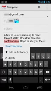 Android 4.0 Ice Cream Sandwich - text editor