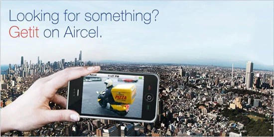 Getit Value added service on Aircel