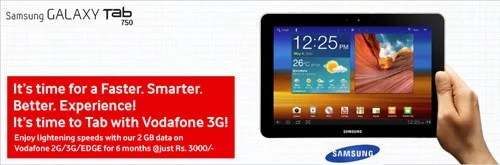 Vodafone offering 6 Month 2GB data on 3G Data Plan With Samsung Galaxy 750 Tab