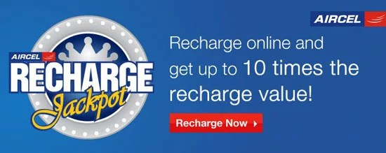 Aircel Online Recharge Jackpot Contest
