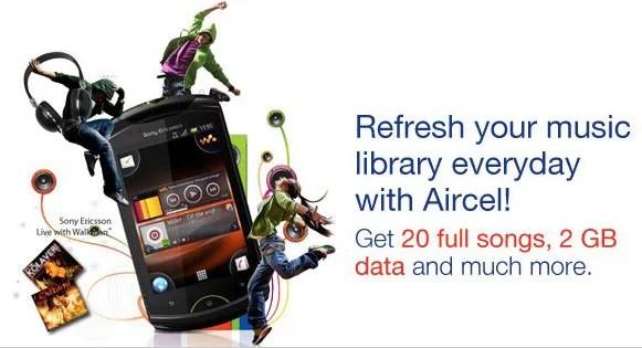 Aircel Sony Ericsson Live Walkman Plans