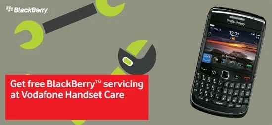 Get Free Blackberry Servicing at Selected Vodafone Stores