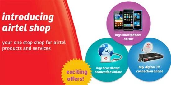 Bharti Airtel's new Online Shopping Destination - Airtel Shop