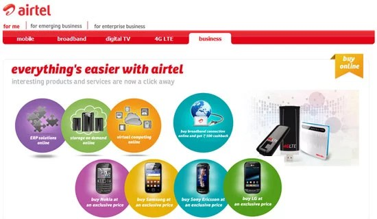 Airtel Shop Product and Services